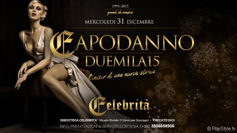 CAPODANNO Celebrità discoteca Trecate Novara